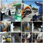 ضدعفونی معابر، خیابان های سطح شهرف اماکن عمومی و تاسیسات شهری توسط شهرداری اقلید
